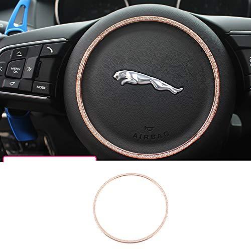 D28JD Anillo de decoración del Volante del Coche Diamante Material de Metal Accesorios de diseño de automóviles por Jaguar,Oro