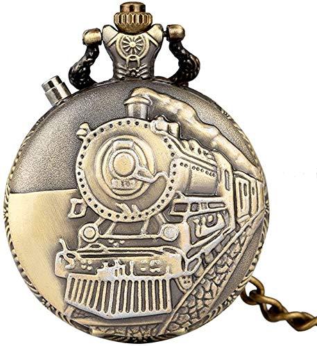Klassische bronzene dampfbetriebene Autoabdeckung Taschenuhr, praktisches großes weißes Zifferblatt mit arabischen Ziffern Taschenuhren, Utility Bronze Rough Chain Pendant Watch Für Geschenke