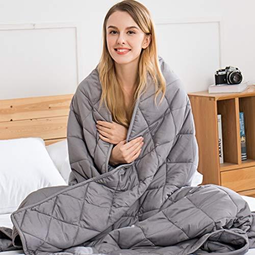 jaymag Therapiedecke Gewichtsdecke für Erwachsene/Jugendliche Für Besseren Schlaf – Schwere Decke Anti Stress Beschwerte Decke für Angststörung - 15lb Weighted Blanket 6,8kg 122x183cm