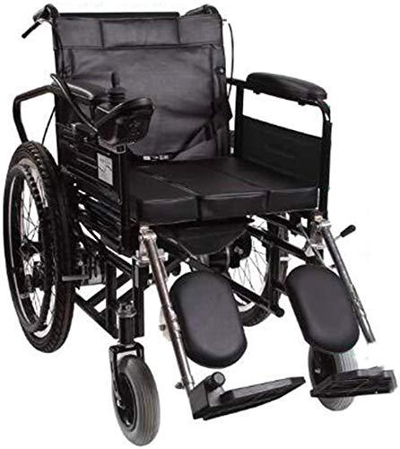 Silla de ruedas eléctrica plegable Ancianos discapacitados, personas mayores Silla de ruedas eléctrica con respaldo alto Mesa de comedor Cama discapacitados Lavabo armres Scooter mayores Para viajes,