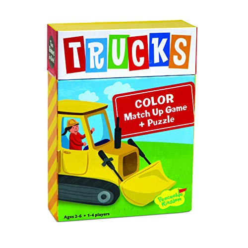 Peaceable Kingdom Trucks Color Match Up...