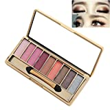 Best Pro Eyeshadow Palette Makeup - Matte + Shimmer 9 Colors - High Pigmented - Professional Vegan Nudes Warm Natural Bronze Neutral Smokey Cosmetic Eye Shadows (07#)