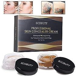 Concealer, Tattoo Cover, Tattoo Concealer, Tattoo Remover, Professional Waterproof Scar Concealer Hides Stains Moles Makeup Cover Up Cream Set