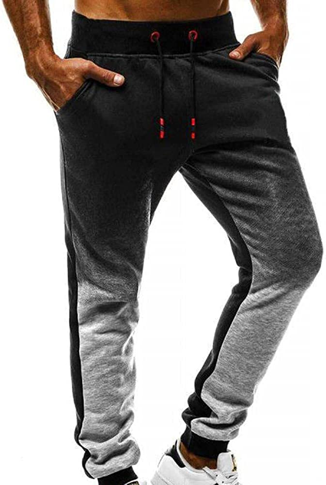 Beshion Sweatpants for Men Casual Lightweight Joggers Pants Slim Fit Drawstring Fitness Track Pants Gym Athletic Workout