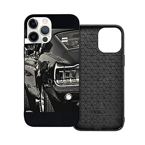 Compatibile con iPhone 12/11 PRO Max 12 Mini SE X/XS Max XR 8 7 6 6s Plus Custodie Mustang Ford Muscle Cars Nero Custodie per Telefoni Cover