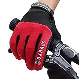 DOXHAUS Fahrradhandschuhe Atmungsaktive rutschfeste und Stoßdämpfende Mountainbike Handschuhe, Herren Damen Touchscreen Lange Fingerhandschuhe fürs Mountainbike, Rennrad, Wandern XL