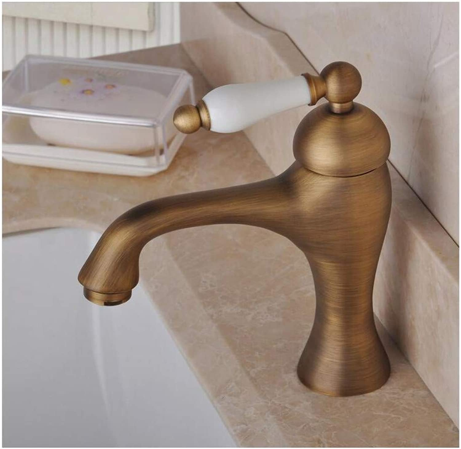 Chrome-Plated Adjustable Temperature-Sensitive Led Faucethandle Antique Brass Bathroom Sink Basin Mixer Tap