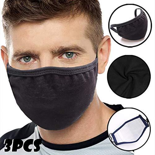 DressLksnf Cubierta Facial de Boca Negra Antipolvo Cubierta Facial de Algodón Unisex...