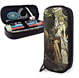zhengchunleiX Soul Eater Leather cartuchera Pen Bag for Girls Boys Kids Adult Pencil Pouch Stationery Storage Bags for School Office