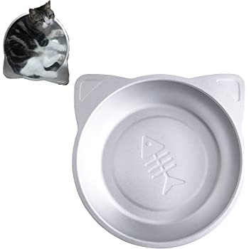 YUMOA 猫 アルミベッド 猫鍋クール アルミキャットボウル猫用 ひんやりクール 夏用 猫 冷却 アイスベッド