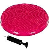 Movit® Balle-Coussin »Dynamic Seat« avec Pompe sans phtalate Coussin Ballon d'assise por Pilates, Yoga, Coussin bourrelet Coussin D'équilibre 33 cm Couleur Rosa