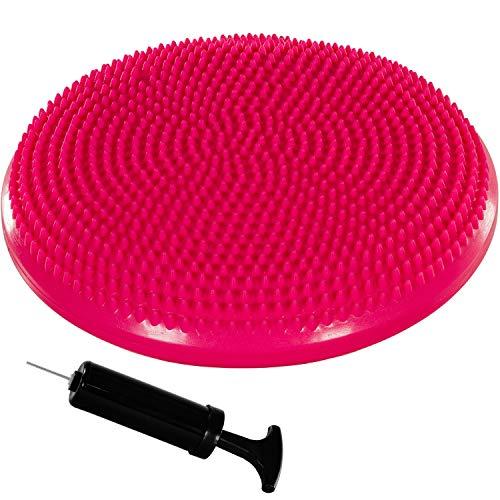 Movit Ballsitzkissen Dynamic SEAT inkl. Pumpe, Durchmesser 38cm, pink, schadstoffgeprüft, Luftkissen Noppenkissen Balance Kissen