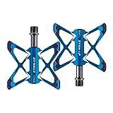 Pedales de Aleación de Aluminio para Bicicleta de Carretera Pedal Ultraligero MTB Pedales de Rodamiento para Ciclismo Ligero
