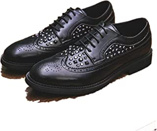 High-end Trend Work Shoes Brogue Shoes for Men Wingtip Oxfords Lace Up Style Microfiber Leather Waxy Shoelaces Anti Slip w...