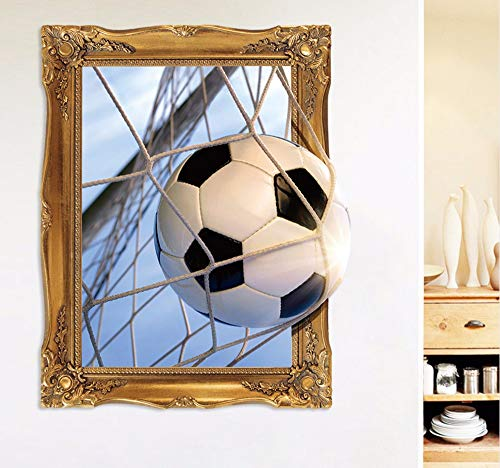 Hanjiming Small Size 45 * 60Cm 3D Football Wall Sticker Bedroom Background Wall Sticker For Children Rooms Stickers Wall