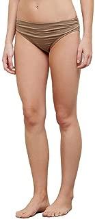 Women's Shirred Band Hipster Bikini Swimsuit Bottom