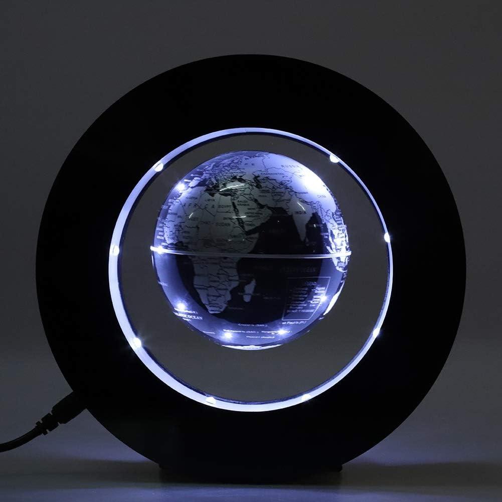 plateado y negro Fdit Globo flotante magn/ético con luz LED