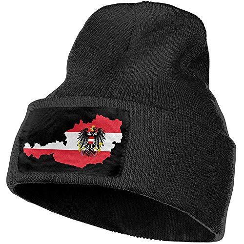 H.D. Beanie - Gorro de punto para mujer y hombre, diseño de bandera de Austria con castillo y escudo
