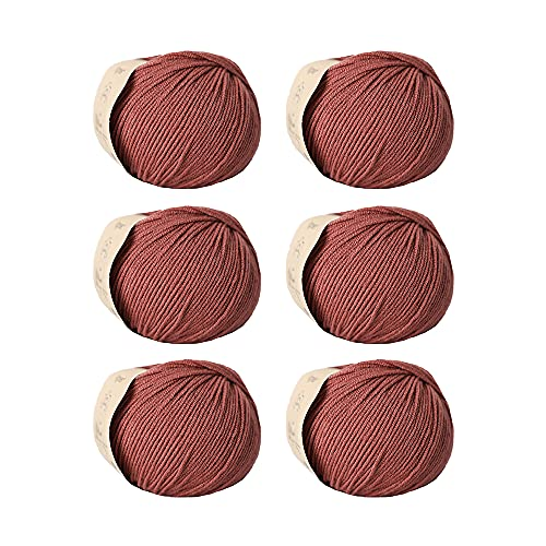 SHIKE Superwash - Ovillo de lana merino (50 % lana merino, 6 ovillos de 50 g)
