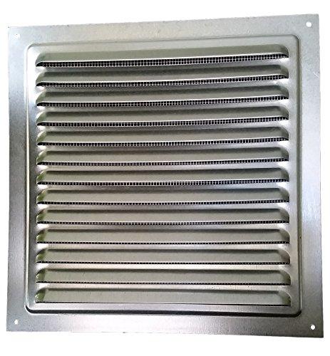 200x200mm METAL LÜFTUNGSGITTER -Zink, mit INSEKTENSCHUTZ Ventilation Gitter Abluft/Zuluft Entlüftung Belüftung