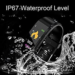 PaJau Sport Watch,Smart Watch Outdoor Waterproof Watch Multi-Function Mode for Fitness Tracker,Sleep Tracker,Message Reminder,Remote Control, Step Calorie Counter Fitness Tracker (Black)