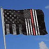 Elaine-Shop Banderas para Exteriores Bandera de EE. UU. Gastada Bandera de línea roja Bandera de 4 * 6 pies para decoración del hogar Fanático de los Deportes Fútbol Baloncesto Béisbol Hockey