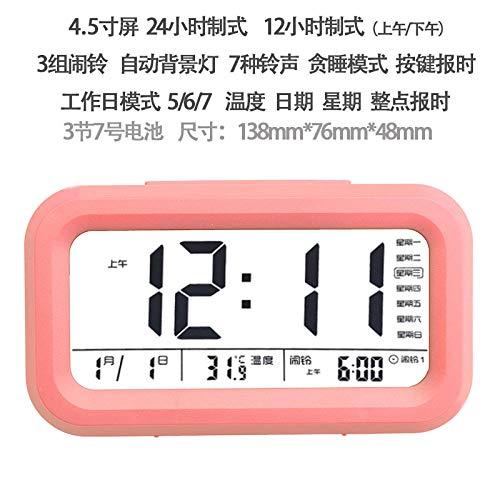 hlyhly klokken digitale wekker led slimme klok oversized digitale display slimme lichtgevende met temperatuur elektronische wekker