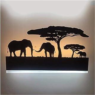 AUNEVN Mode Les dessins animés Applique Murale Animal Forme 12W LED Lampe Murale Métal et Acrylique Abat-jour Chambre d'en...