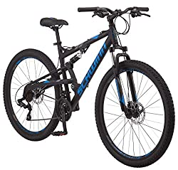 top 10 schwinn mountain bike Schwinn S29 Men's Mountain Bike, 29inch Wheels, 18inch / Medium Aluminum Frame, Double Suspension, …