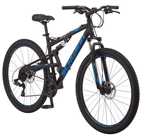 Schwinn S29 Mens Mountain Bike, 29-Inch Wheels, 18-Inch/Medium Aluminum Frame, Dual-Suspension, Mechanical...