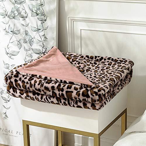 BXWQPP Cálido Acogedor Bedding Manta Creativo Leopardo