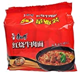 康師傅紅焼牛肉面 インスタントラーメン 即食面 (5食入り)