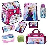 Familando Disney die Eiskönigin Anna & ELSA Schulranzen-Set 9-TLG. Scooli Campus Fit Frozen Magic mit Sporttasche Federmappe und Regenschutz