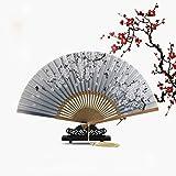 CJJ Ventilador de la Flor Clásica del Estilo Chino Abanico Plegable Femenino del Ventilador del Ventilador del Ventilador del Estilo Femenino Japonés,UN,Un tamaño