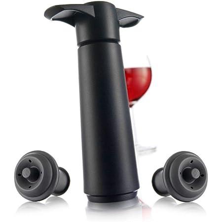 【正規輸入品】vacu vin バキュバン ストッパー2個付き V-20 ブラック