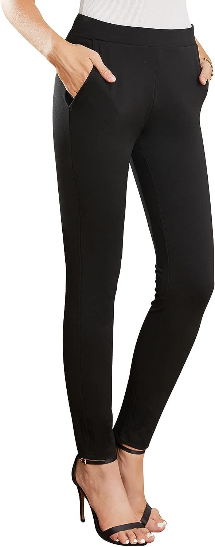 MYOURSA Work Award Dress Pants for Women on Stretch Excellence Busine Skinny Pull