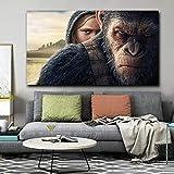 Monkey Planet Canvas War Wall Art Poster Print Animales Grandes para la decoración del hogar de la Sala de Estar,Pintura sin Marco,45x67cm