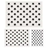 Koogel Plastic Stencil Template, 3 Sizes 50 Star Stencil Template for Planner/Notebook/Diary/Scrapbook/Graffiti/Card, DIY Drawing Painting Craft Projects
