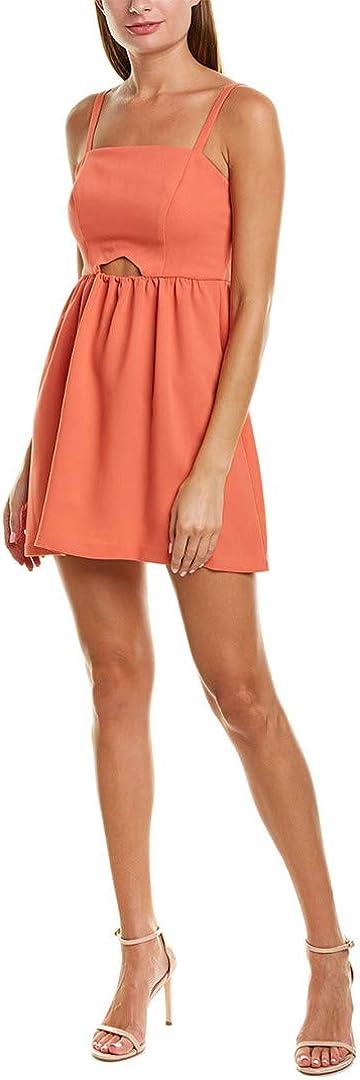BCBGeneration Women's Sleeveless Cutout Flutter Dress