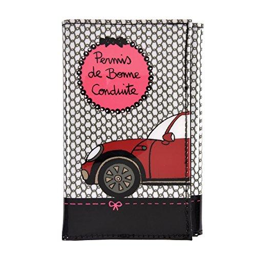 Derrière la porte - Portapapeles para coche - Colores negro y rosa