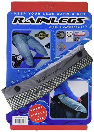 Rainlegs Reflective Raintrousers, grau, Large