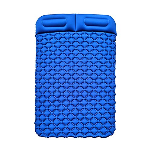 LYYJIAJU Car Mattress SUV Inflatable Multifunctional Inflatable Bed Two people Air Mattress for Outdoor Activities (Color : Dark blue, Size : 195 * 130 * 6CM)