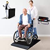 Meilestone MS-WCS1000 1000x0.1lb Wheelchair Scale/Portable Light Weight Floor Wheelchair Scale | with Dual...