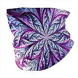 Misterioso Calentador de Cuello de Hoja púrpura Polaina de Cuello sin Polvo Bufanda de Boca a Prueba de Viento Pañuelo amigable con la Piel Bufanda de mufla Unisex