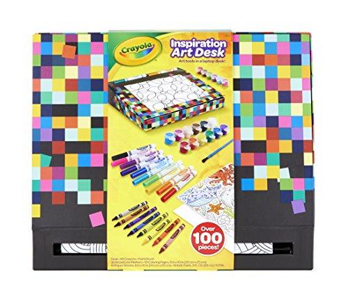 Crayola Inspiration Art Desk, Over 100 Piece, Art Set, Gift for Kids, Age 4, 5, 6, 7, 8