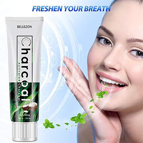 LanLan dentifricio Dentifricio sbiancante per denti a base di carbone attivo naturale
