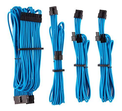 Corsair - Kit de Inicio (Cables para alimentadores protegidos de forma Individual con revestimiento Type 4Gen 4Corsair Premium),Azul