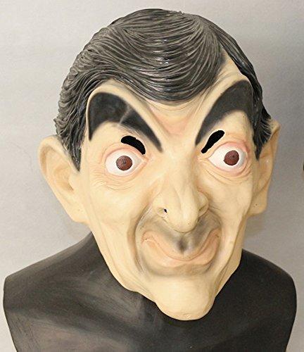 shoperama Hochwertige Latex-Maske in Lebensmittelqualität - Mr. Bean