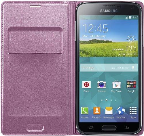Samsung Galaxy S5 Flip Cover - Pink