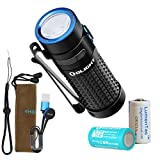 Olight S1R II 1000 Lumen Rechargeable EDC Pocket Flashlight with Rechargeable Battery & LumenTac CR123A Backup Battery